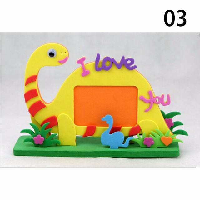 diy kits educational toys bee owl giraffe eva photo frame foam