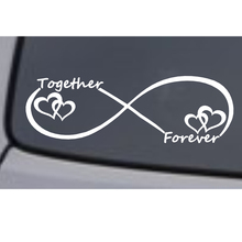 Together Forever Vinyl Decal Sticker Car Window Bumper Heart Love Symbol Fashion Personality Creativity