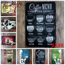 Vintage Coffee Wall Art Painting Plaque Coffee Makes Everything Possible Vintage Metal Signs Home Decor For Cafe Shop cartel metalico vintage aviation products round painting retro metal sign plaque wall decor 30 30cm