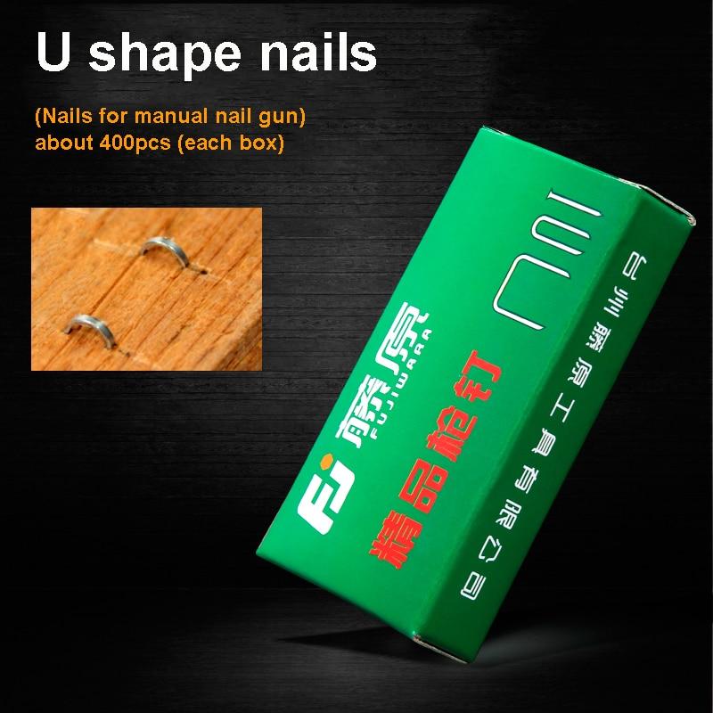 Fujiwara Manual Nail Gun Special Nail U-shap Nails Delaying Senility