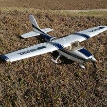 Радиоуправляемый игрушечный самолёт Cessna 182 1410 мм размах крыльев 6ch с закрылками, светодиодный светильник epo KIT(авиарама только без электроники