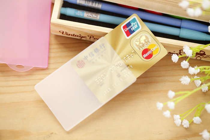 5 sztuk/partia przezroczyste karty IC uchwyt na karty & ID posiadacze kart mężczyzna kobiet posiadacz karty kredytowej pokrywa ochronna proste pcv posiadacze kart
