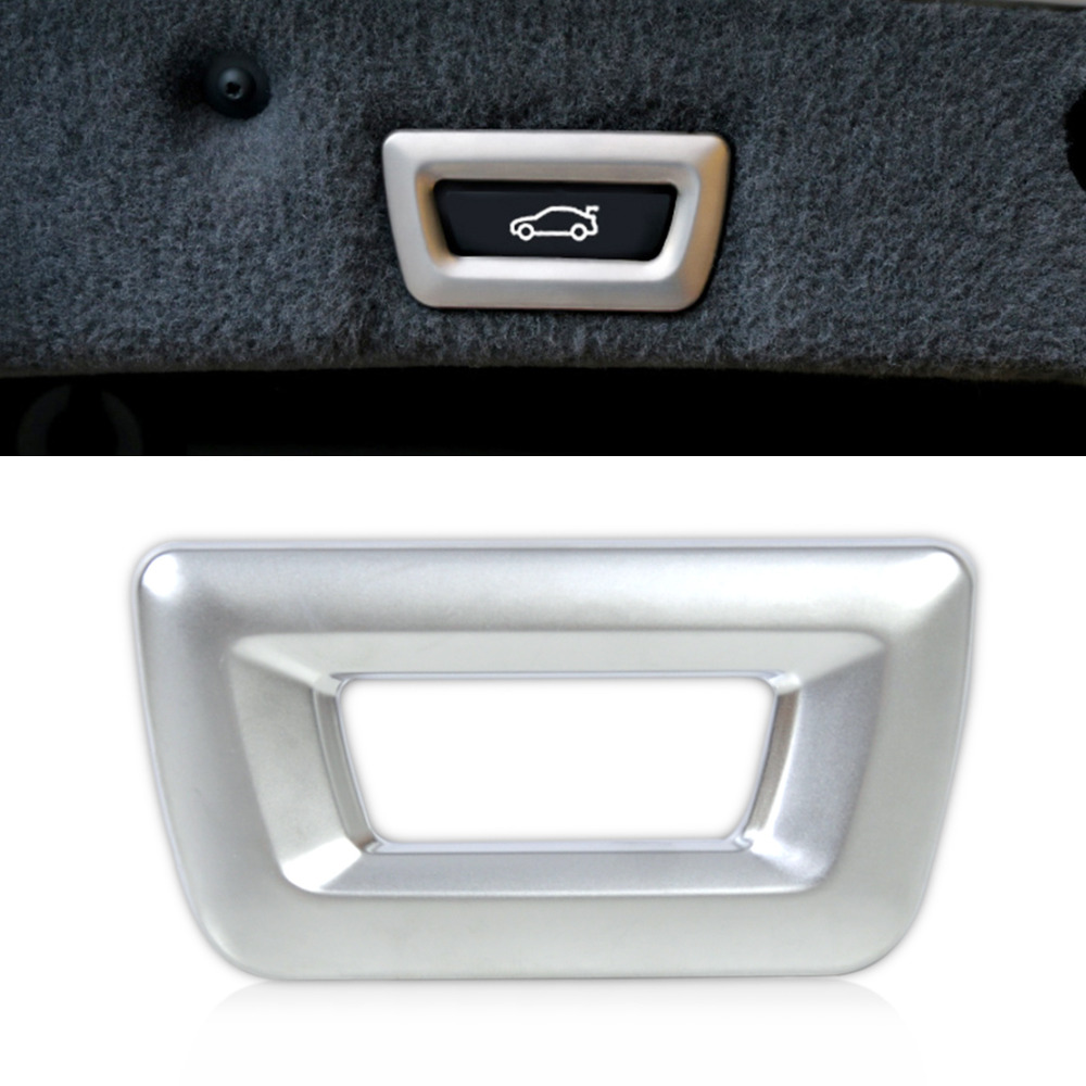 Beler interior accessories new abs plastics trunk release switch frame trim for bmw x3 x4 x5 x6 3 5 7 series