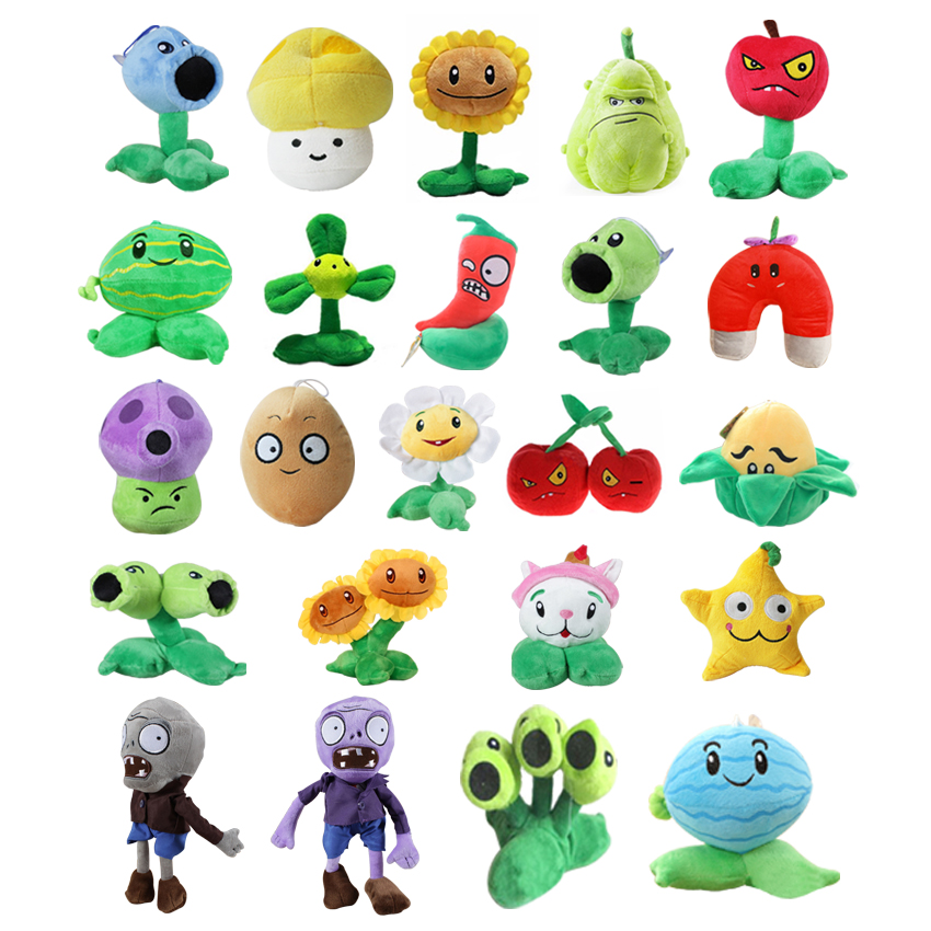 1pc 20 styles 13-20cm Plants vs Zombies plush toy stuffed soft Plush pendant games dolls for kids baby children birthday gift ...