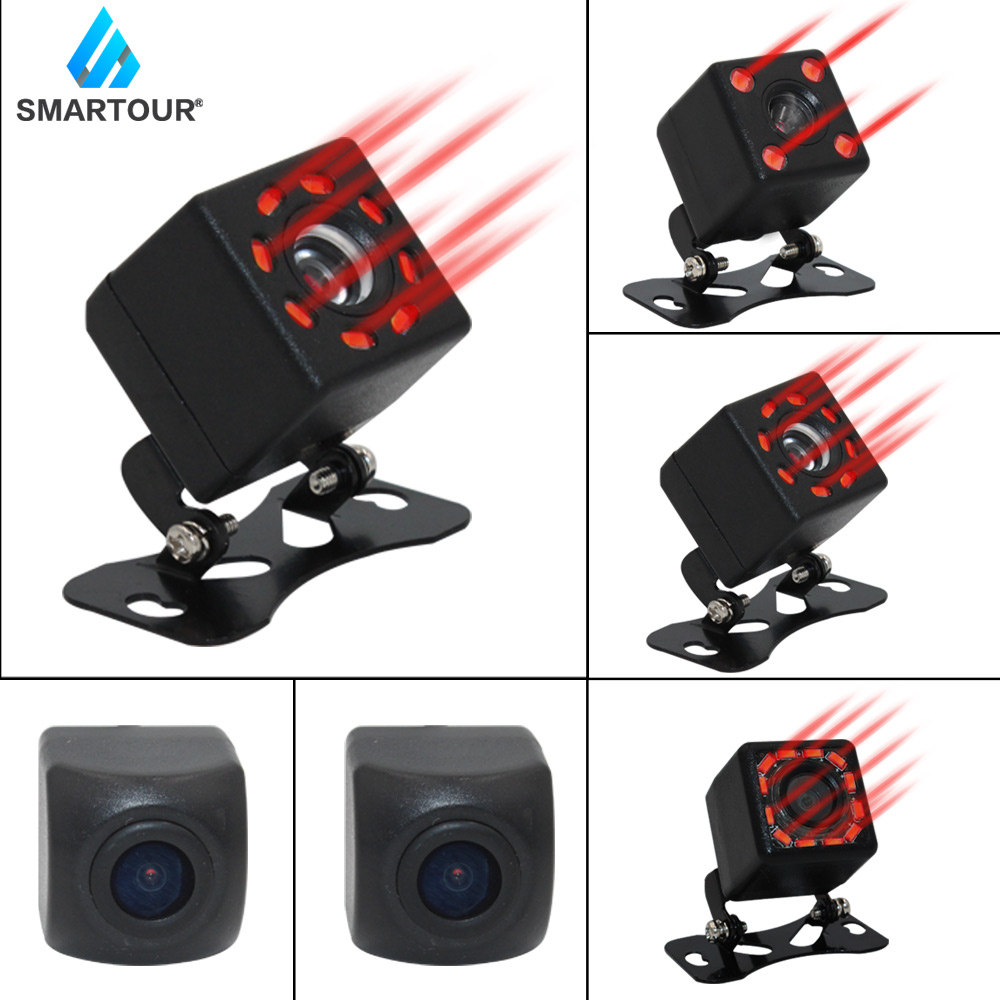 Smartour Car Rear View Camera 8 LED Night Vision Wide Angle HD Color Image Waterproof