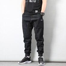 Japanese Style Fashion Men Jeans Vintage Black Classical Denim Jogger Loose Fit Streetwear Hip Hop homme