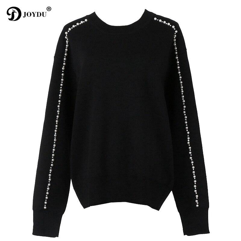 6f3ff904448371 Épais Tricoté 2018 En Piste Chaud Chandails Pull D'hiver Luxe Joydu Laine  Mode Black Jersey De Des Femmes ...