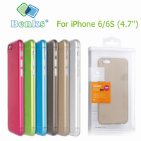 For IPhone 6 6S 4 7 Benks Colorful Ultra Thin Light Frosted Case Cover High Quality