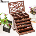 2017 Wholesale Jewelry Display Wood Pattern Casket / Senior Jewelry Box Organizer / Case for Jewelry Storage / Gift Box