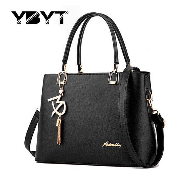 Ybyt marca 2017 nueva simple formal oficina bolsos de alta calidad de las mujeres de las señoras maletín bolsas de mensajero del hombro de crossbody bolsas