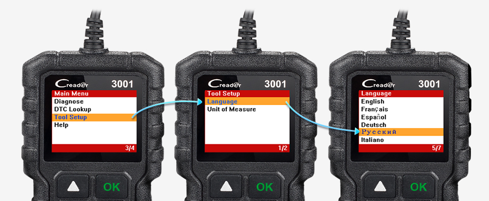 LAUNCH X431 CR3001 Full OBD2 Scanner OBD 2 Engine Code Reader Creader 3001 Car Diagnostic tool PK CR319 AD310 ELM327 Scan tool