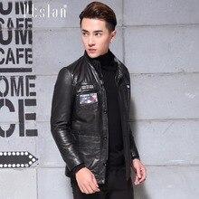 Ptslan 2016 Men's Genuine Leather Jacket Real Lambskin jackets