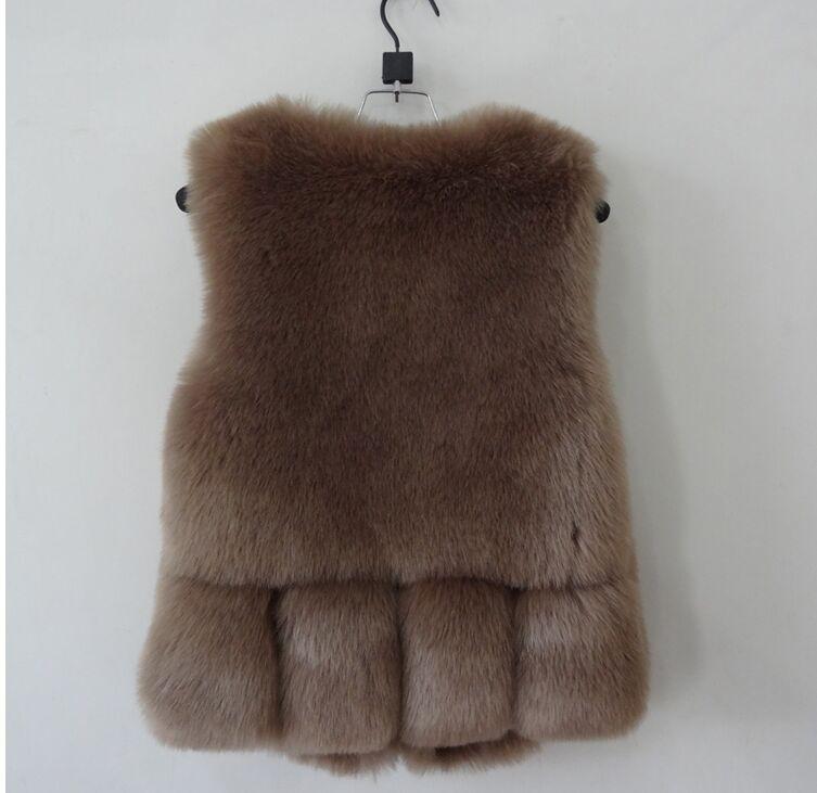 Новинка, зимние толстые теплые меховые жилеты, пальто для женщин, искусственный Лисий мех, жилет, короткие пальто, высокое качество, жилет, Женская куртка, верхняя одежда