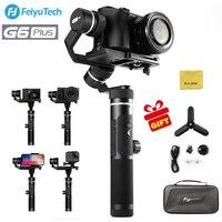 (В наличии в Великобритании) FeiyuTech G6 Plus 3 Axis брызг портативный монопод с шарнирным замком для смартфонов, экшн Камера, цифровой Камера, беззер