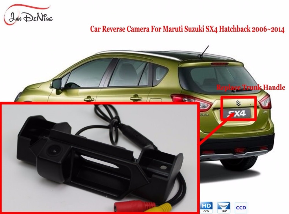 JanDeNing CCD Car Rear View Parking/Backup Reverse Camera/WaterProof Trunk Handle OEM For Maruti Suzuki SX4 Hatchback 2006-2014