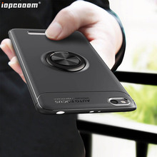 Phone Cases For Xiaomi Redmi 4A Case Car Stand Magnetic Bracket Finger Ring TPU Shockproof Cover For Xiaomi Redmi 4A Coque 5.0 armour series rotating bracket case for xiaomi redmi 4a silver