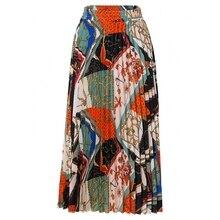 2021新ファッションハイウエストプリーツスカートの女性春夏ミディ弾性ウエストaラインのための女性韓国
