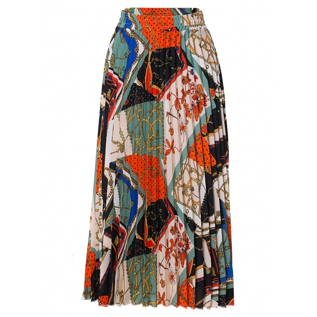 2021 nowych moda wysokiej talii plisowana spódnica kobiety wiosna lato spódnice Midi kobiet w pasie linii długie spódnice dla kobiet Rok