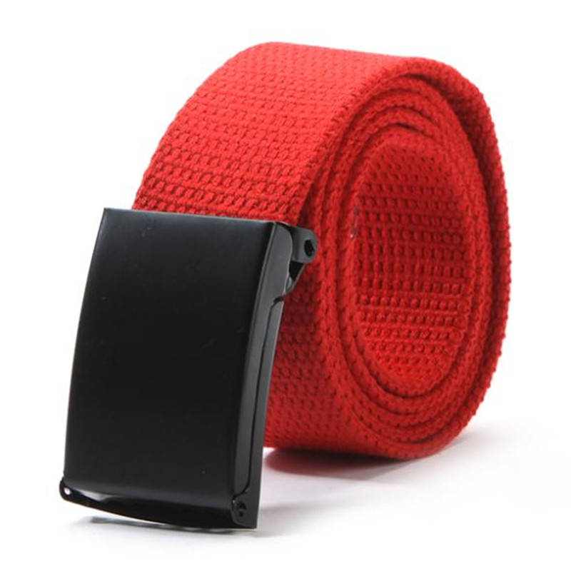 Casual Unisex Men Waist Belt Waistband Plain Webbing Canvas Belt Strap Belts