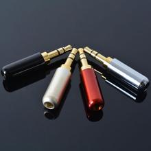 4 pçs/lote Cobre Banhado A Ouro 3.5mm Macho Plug Mini Jack 4 pólo plug Repair Fone De Ouvido Fone de Ouvido Cabo de Solda de solda