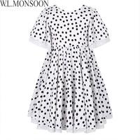 W L MONSOON Girls Summer Dress 2018 Brand Children Party Dresses Dot Pattern Vestidos Costume For