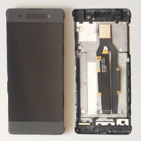Gray LCD Screen Touch Digitizer Assembly Frame For Sony Xperia XA F3111 F3112
