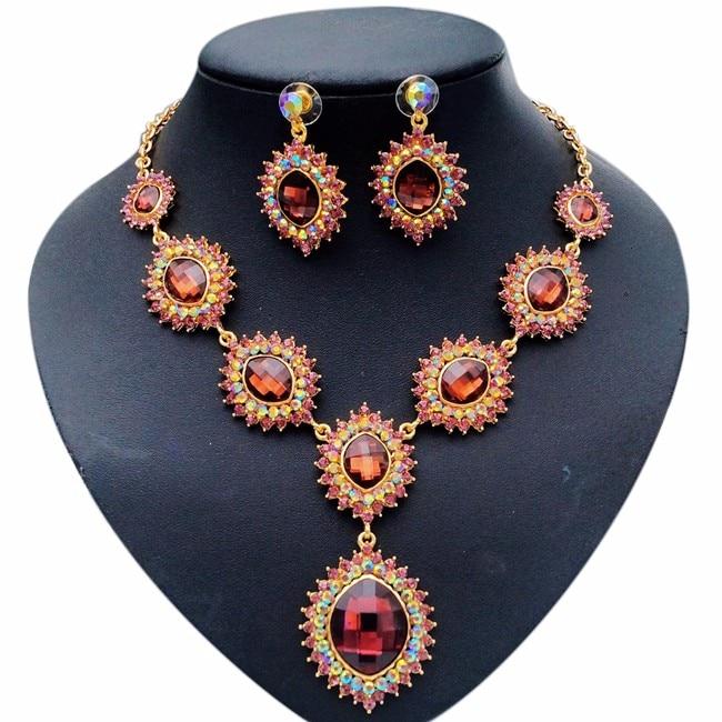 Free Shipping platinum jewelry set Ladies Wholesale ...