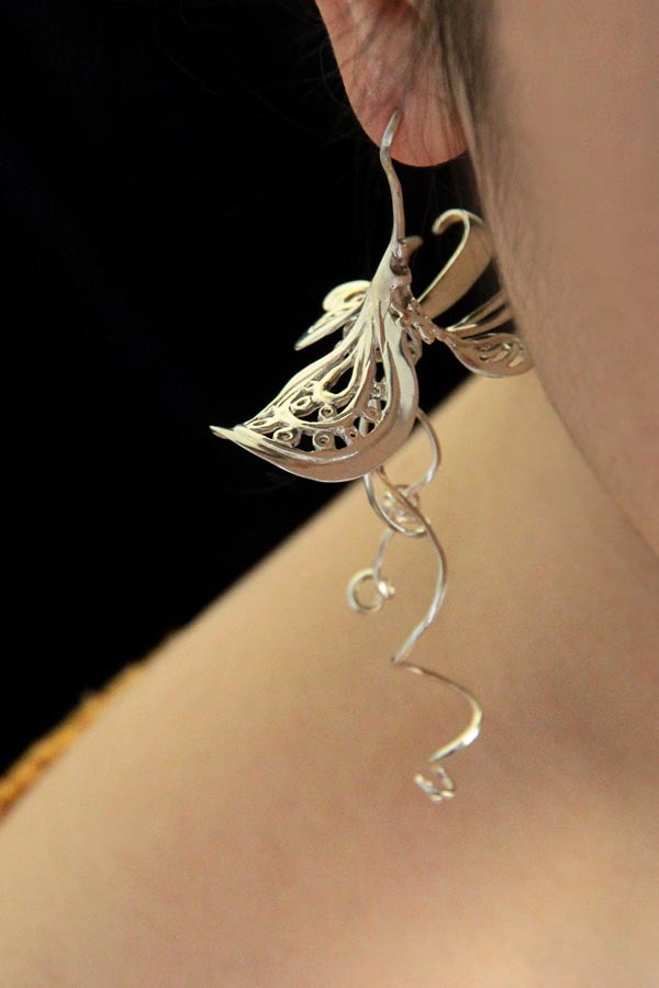 Original Design Manual Fashion Earrings Pea 925 Silver Retro Drop Personality Free Shipping In From Jewelry