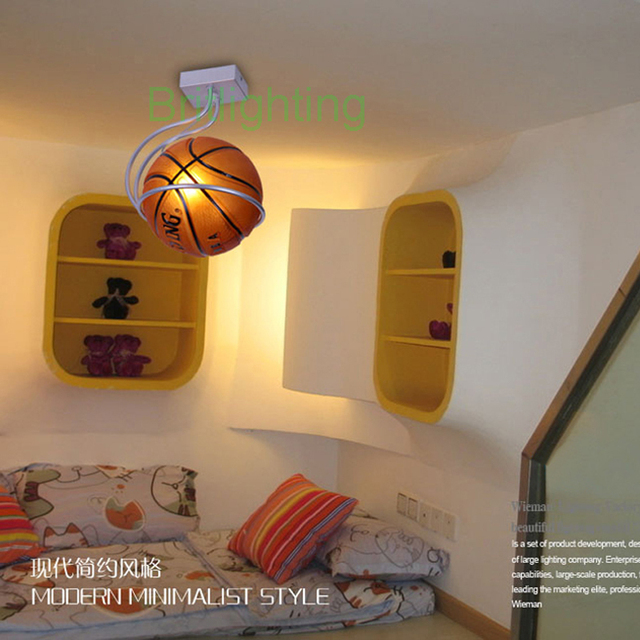 children bedroom ceiling lighting modern ceiling lamps basketball ...