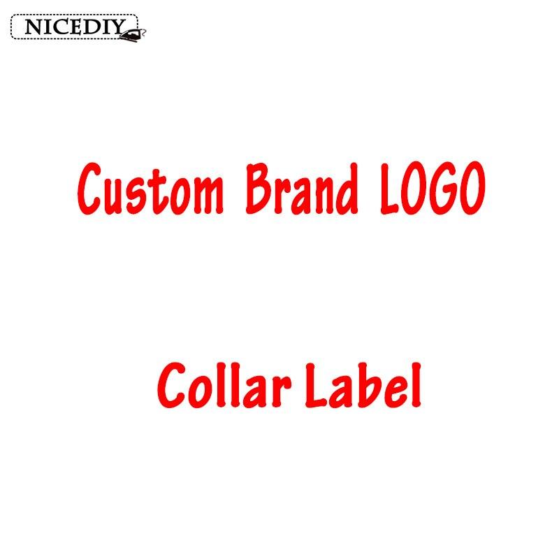 Nicediy 10 Pcs/Custom Brand LOGO Clothing Collar Tags Jacket Overcoat Tag Trademark Weaving Coat Shirt Main Washing Flag Labels