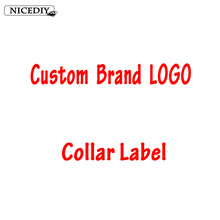 Nicediy 10 Pcs/Custom Brand LOGO Clothing Collar Tags Jacket Overcoat Tag Trademark Weaving Coat Shirt Main Washing Flag Labels