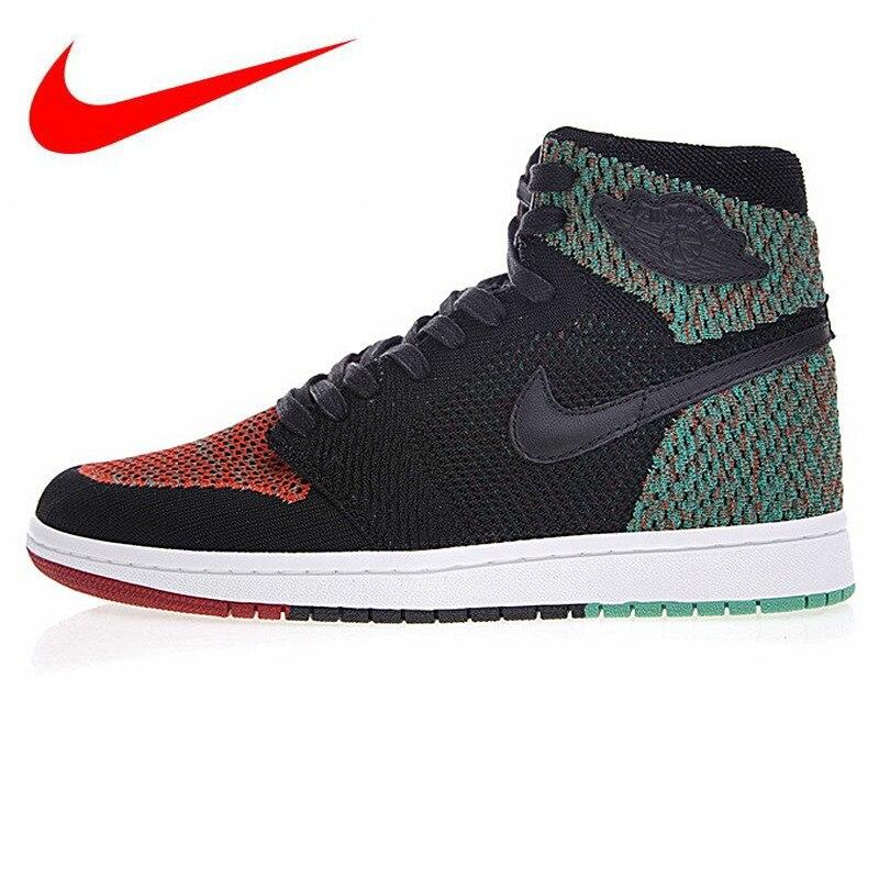 buy online c68c1 309e8 Originele-Nike-Air -Jordan-1-Retro-Hoge-Flyknit-BHM-Mannen-Basketbal-Schoenen-Mannen-Outdoor-Sport-Sneakers.jpg
