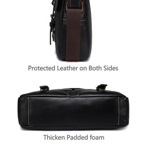 Image 5 - Мужской портфель из воловьей кожи VASCHY, винтажная деловая сумка мессенджер ручной работы для ноутбука 15,6 дюйма, 2019