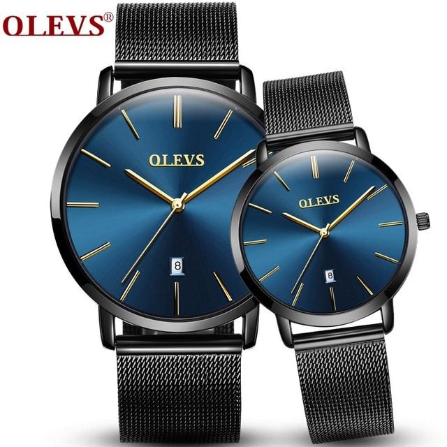 OLEVS couple watch Lovers Watches relogio masculino Fashion Design women dress Wristwatch men Casual Waterproof Sport watch saat