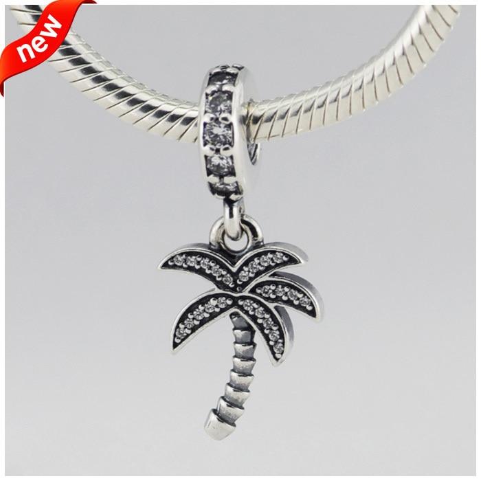 2019 Neuer Stil Ckk 925 Sterling Silber Schmuck Palm Treesilver Baumeln Mit Original Charms Perlen Passt Armbänder Für Schmuck Machen
