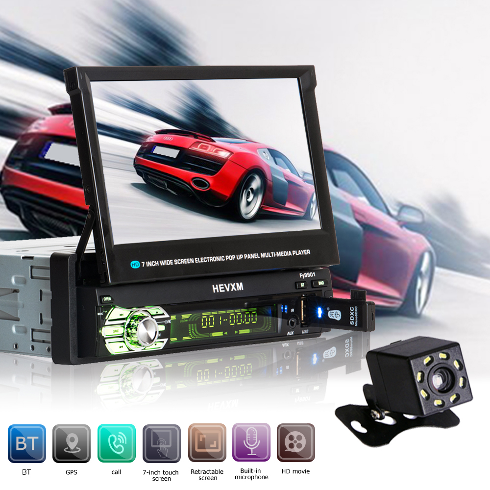 Autoradio Cassette Enregistreur Automagnitola 2 Din Voiture Vidéo MP5 Multimédia Lecteur 9601g FM Radio Sans Fil BT Contient GPS