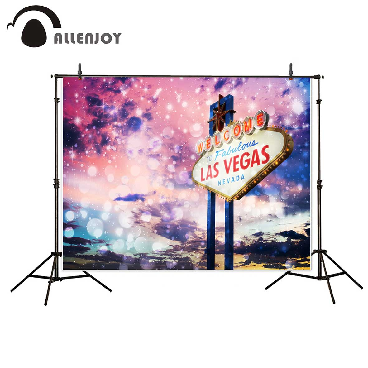 Allenjoy newborn photography background bokeh las vegas casino dream colorful backdrop photo studio photobooth high quality allenjoy photographic background las vegas casino poker clock photography fantasy send folded fabric vinyl fondos fotografia