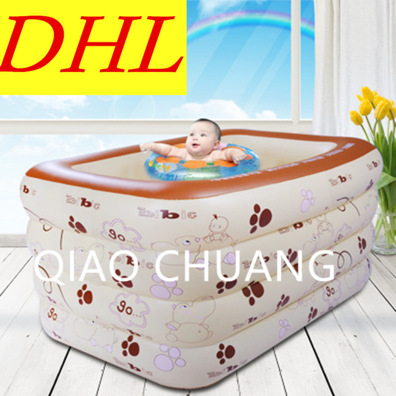 Home Use Inflatable Bath Tub Heat Preservation Baby Swimming Pool PVC Thicken Comfortable Paddling Pools G981
