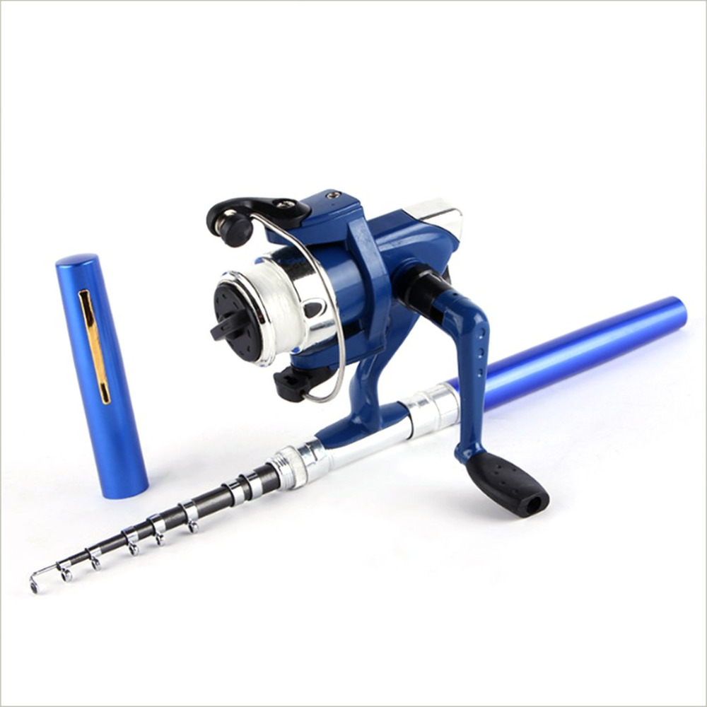 OUTAD Super Lightweight Portable Pen Rod Fishing Set Mini Telescopic Fishing Rod Pole + Reel Pocket Fishing Reel Accessories