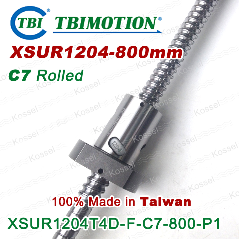 TBI Hot Sale 1204 XSU1204 CNC Ball Screw R800mm ball screw \ ball nut   and end machined for high stability linear CNC diy kit tbi dfi 2505 600mm ball screw milled ballscrew and end machined for high stability linear cnc diy kit