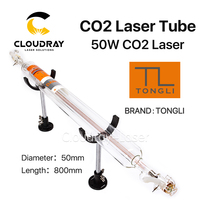 TONGLI 800MM 50W Co2 Glass Laser Tube For CO2 Laser Engraving Cutting Machine TL TLC800 50