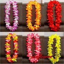 Гавайские Искусственные цветы leis гирлянда ожерелье Цветы DIY модные аксессуары для платьев Гавайские пляжные вечерние украшения