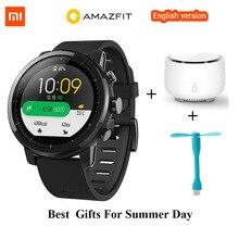 Xiaomi originais GPS Relógio Inteligente Xiaomi Huami Amazônia 2 Amazônia Stratos Ritmo 2 Firstbeat 5ATM Natação À Prova D' Água Relógio Esportivo