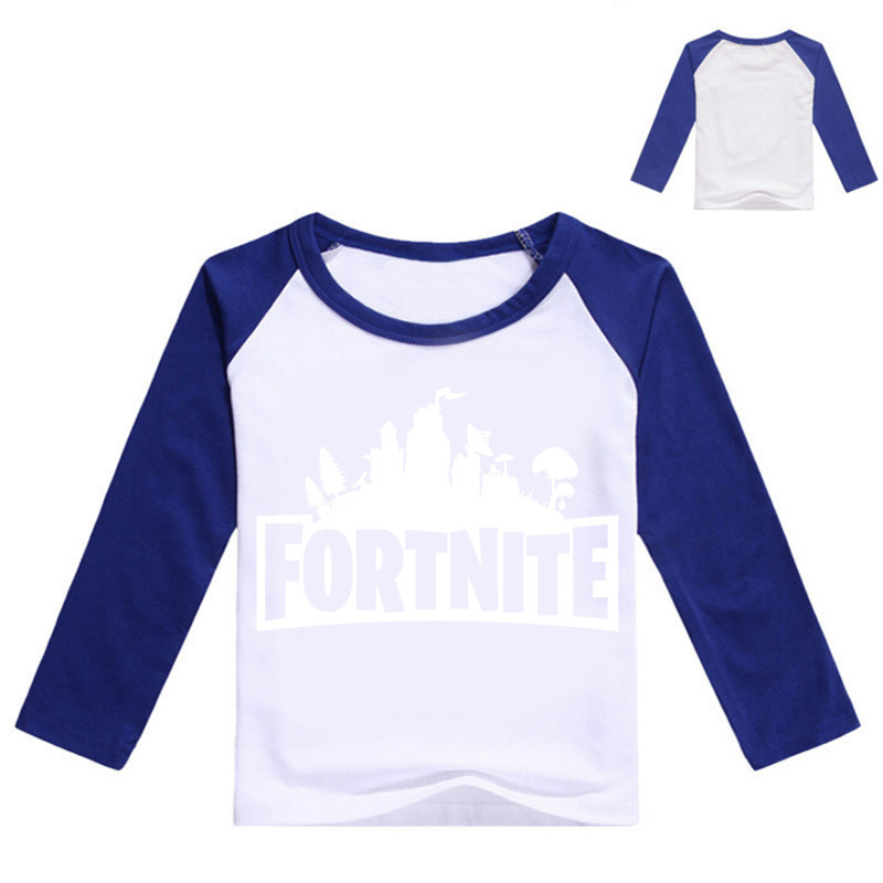 Z&Y 2-16Years Bobo Chose 2018 Tee Shirt Fortnite Enfant Kids Shirts Boys T-shirt Teenager for Girls Tshirt Long Sleeve Top Model