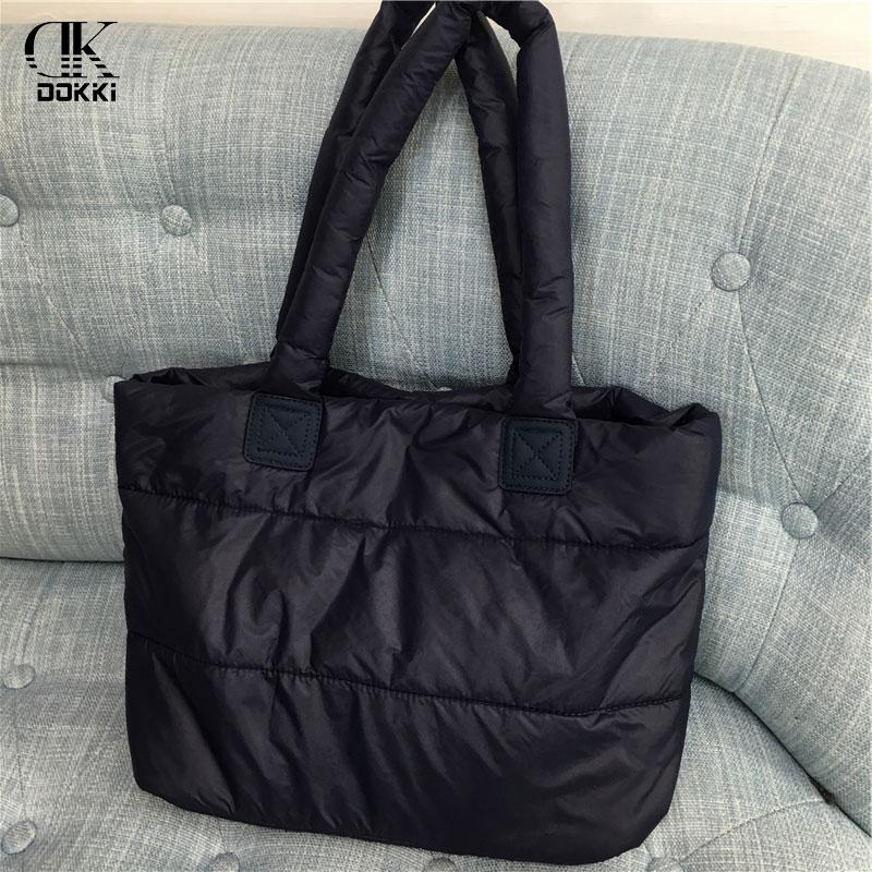 DOKKI New Style Women's Nylon Handbags Female Designer Luxury Lady Tote Large Capacity Zipper Casual Totes For Women Soft