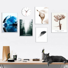 White Horse Flower Iceberg Canvas Painting Home Decorative Wall Art Nordic Modern Poster Print Landscape Living Room Decoration
