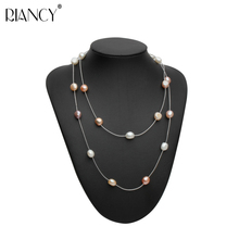 Wedding series Natural freshwater long pearl necklace jewelry Multicolor pearl necklace Jewelry bridal necklace for Women gifts