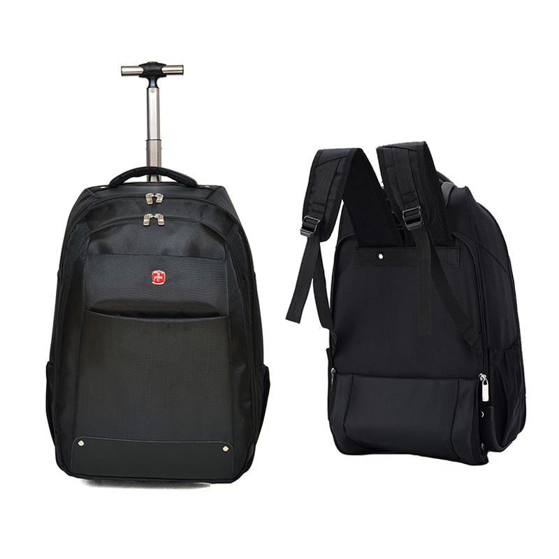 Letend 19 inch Cabin Travel Bag Multifunction Trolley Rolling Luggage Oxford Shoulder Suitcase Wheels Men Laptop Backpack lowepro protactic 450 aw backpack rain professional slr for two cameras bag shoulder camera bag dslr 15 inch laptop