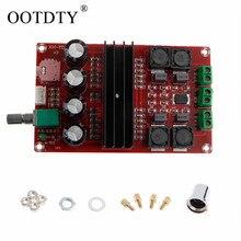TPA3116D2 2x100 вт 2 канальный цифровой усилитель аудио Плата 12 24 В DIY модуль