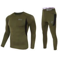Mens Thermal Fleece Bicycle Base Layer Kits Warm Sports Underwear Road Bike MTB Jersey Clothes Cycling